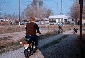 My first multi-speed bike, 1969, Loma Linda. Dad's already riding sweeper.